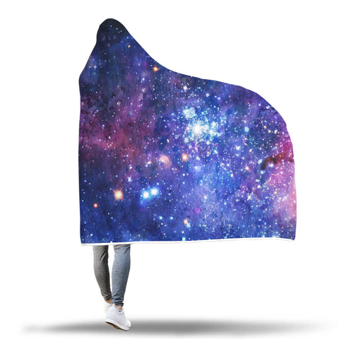 "Galaxy ""Water Painted Design"" Hooded Blanket"