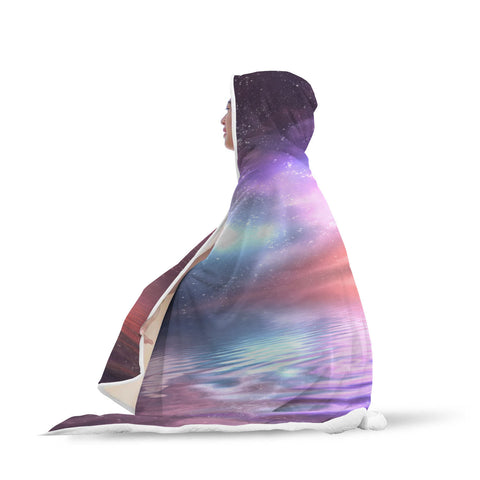 Galaxy Reflection Hooded Blanket