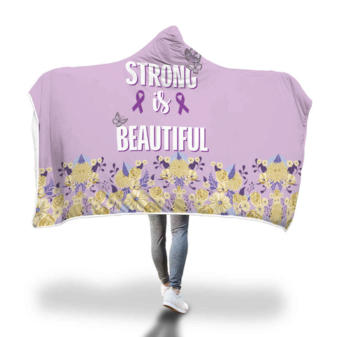 Lupus Awareness Hooded Blanket