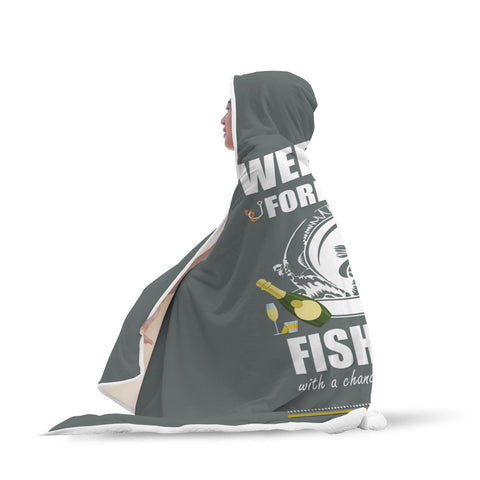 Fishing Forecast Hooded Blanket