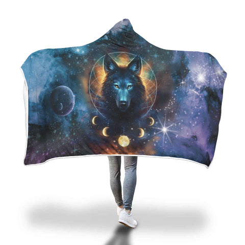 Black Omni Wolf Hooded Blanket