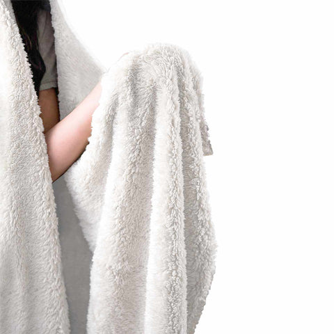 White Wolf Spirit Hooded Blanket
