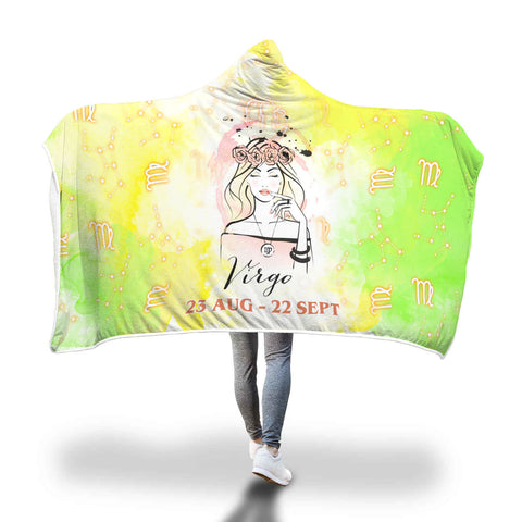 Lime Virgo Hooded Blanket