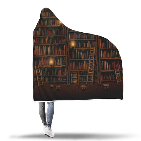 Giant's Library Hooded Blanket