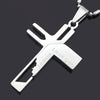 Image of Jesus Love you Stainless Steel Cross Pendant