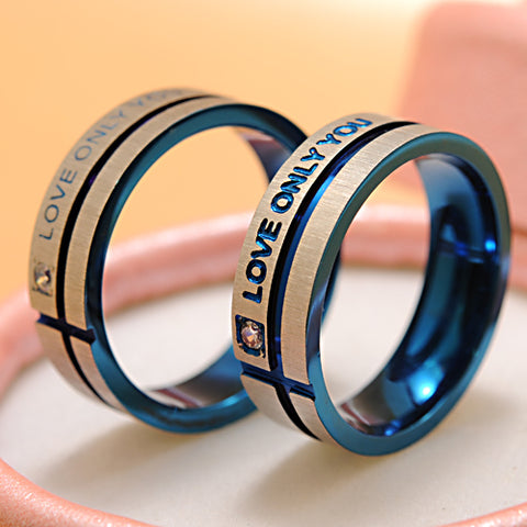 """Love Only You"" Couple Rings"