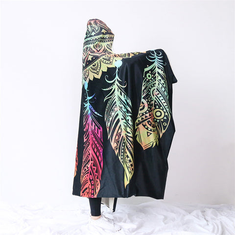 Mandala Dreamcatcher Hooded Blanket