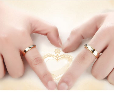 Golden Moments Titanium Couple Rings