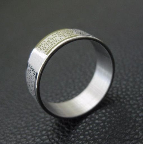 2018 Design Titanium Steel Ring with Bible Text Titanium Steel (LIMITED PRICE DISCOUNT!)