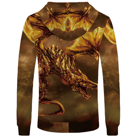 """Dragon King of Volcanoes"" Hooded Blanket"