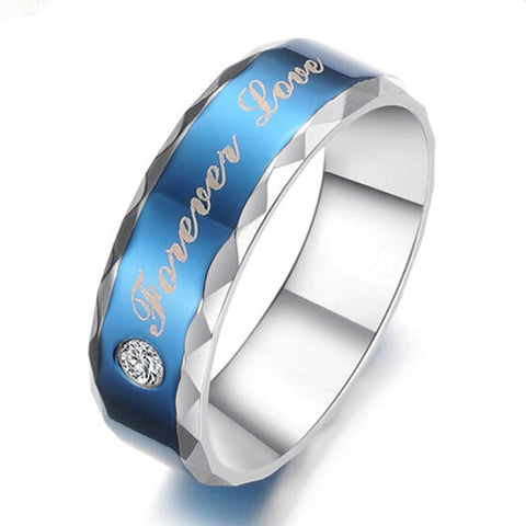 Blue Diamond Forever Love Couple Ring - 2018 Design