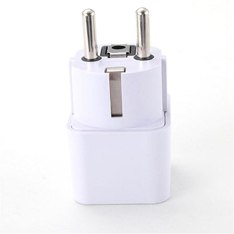 Universal UK/US/AU to EU AC Power Plug Travel Adapter