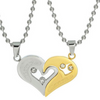 "Image of ""I Love U"" Couple Necklace - 1 Pair"