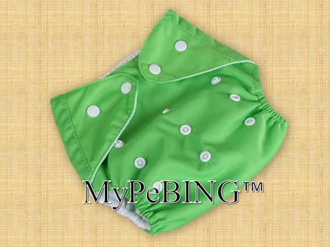 Warm-Clad Washable Training Diapers (Green)