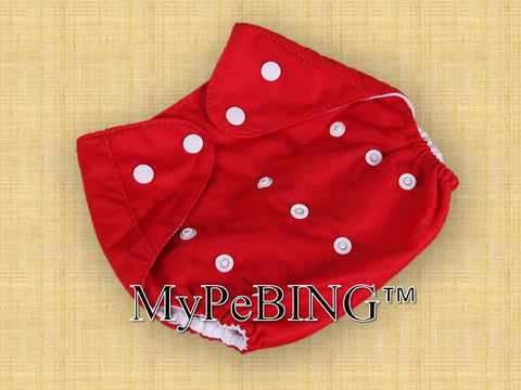 Warm-Clad Washable Diapers (Red)