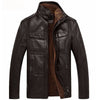Image of Biker's Faux Interior PU Leather Jacket