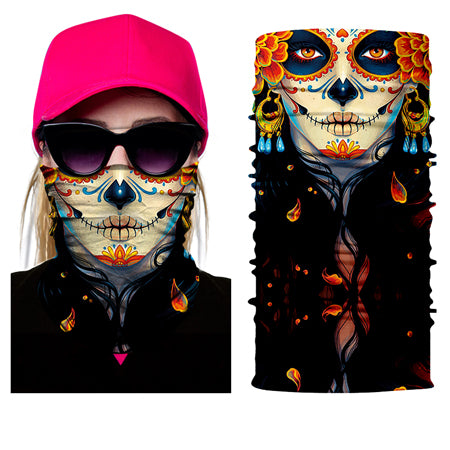 Vicious Skull Design Headwear Face Mask