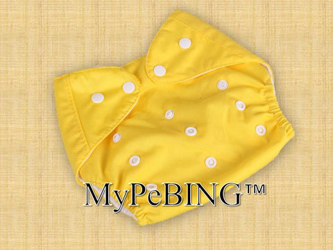 Warm-Clad Washable Diapers (Yellow)