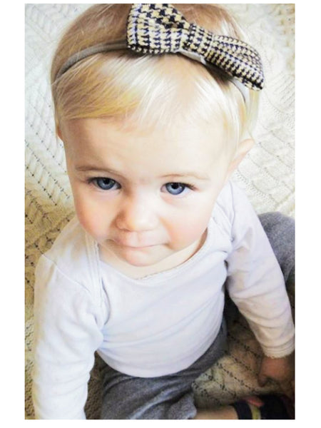 Cute Tweed Bow HeadBand