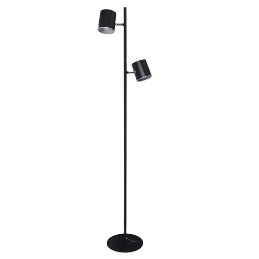 DAC® MP-322 Metal LED Floor Lamp with Two 340° Rotating Heads-Black