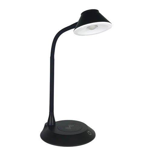 DAC® MP-323 LED Desk Lamp With Wireless Charger, Black