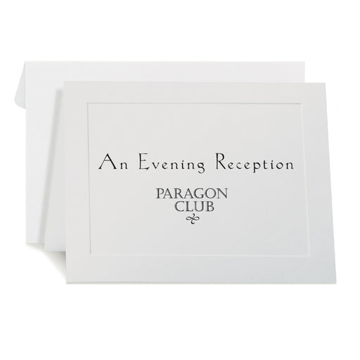 St. James® Overtures® Traditional Embossed Note Cards, White, 40 sets