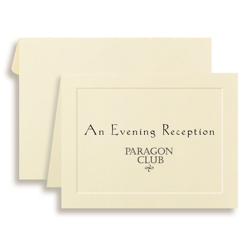 St.James® Overtures® Traditional Embossed Note Cards, Ivory, 40 sets