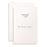 Overtures® Traditional Emboss White Invitations, 40 sets