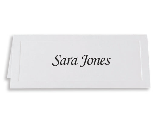 St. James® Overtures® Traditional Embossed Place Cards, White, Pack of 60