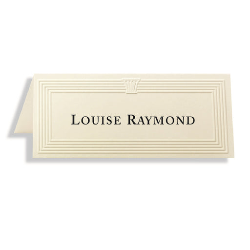 St. James® Overtures® Capital Embossed Place Cards, Ivory, Pack of 60
