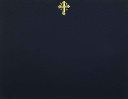 St. James® Presentation Cards/Certificate Holder with Gold Foil Crucifix Linen, Black, Pack of 25