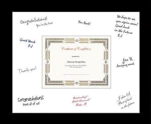 "St. James® Oversized Certificate Frame,18.5"" x 22.5"" (47 x 57cm), Black w/ White Double Mat"