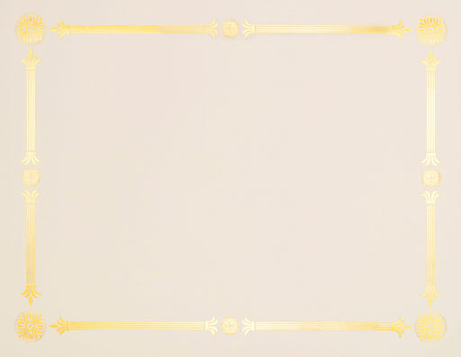 St. James® Premium Weight Julian Design Gold Foil Certificate,Ivory, Pack of 15