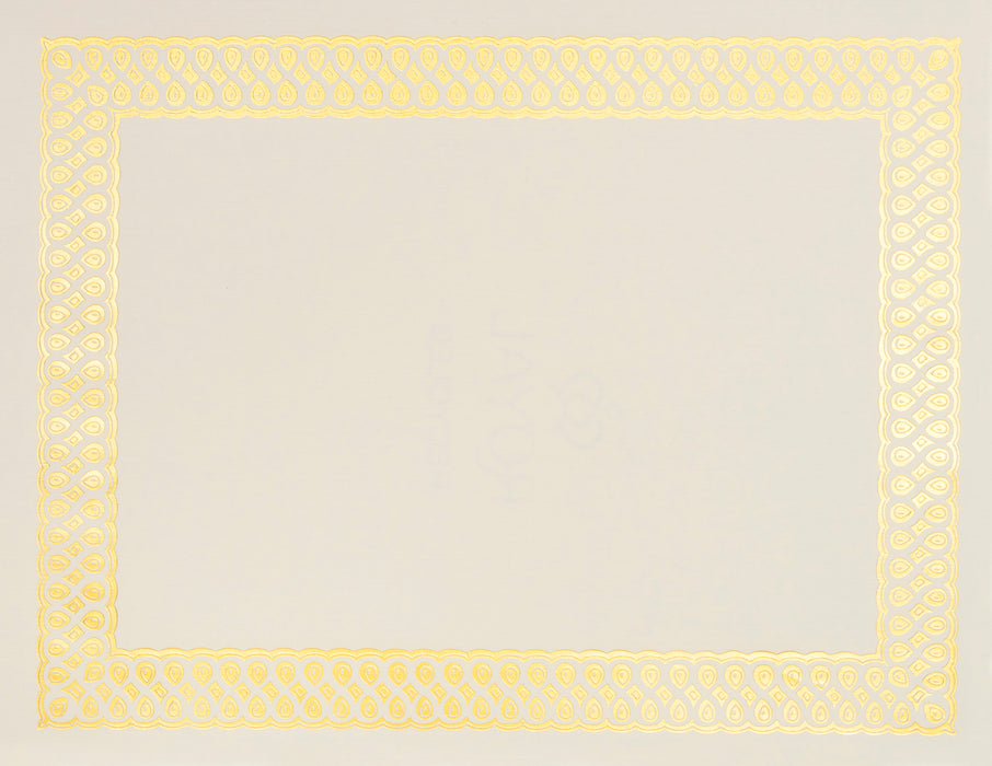 St. James® Elite Bond Certificates, Natural Linen with Classic Gold Foil Design, Pack of 100