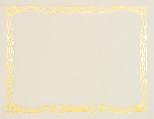 St. James® Elite Bond Certificates, Natural Linen with Deco Gold Foil Design, Pack of 12