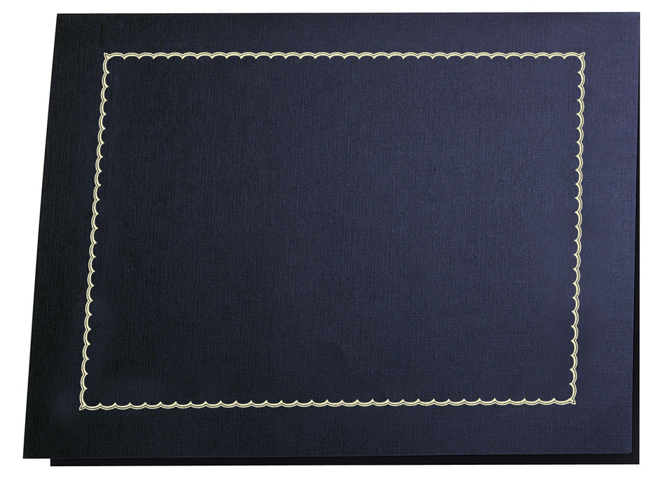 St. James® Classic Linen Certificate Holders with Gold Foil, Navy Blue, Pack of 5