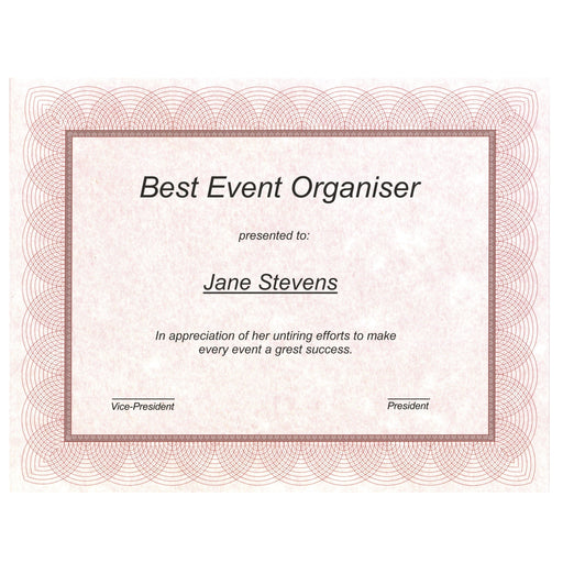 St. James® Regent Certificates, Gioche Red, Pack of 100