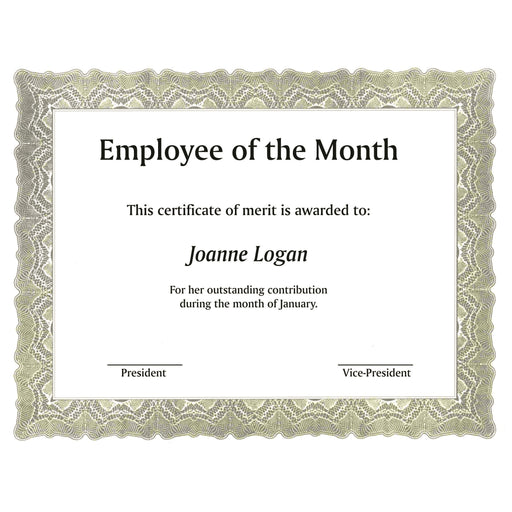St. James® Certificates, Gioche Green, Pack of 100