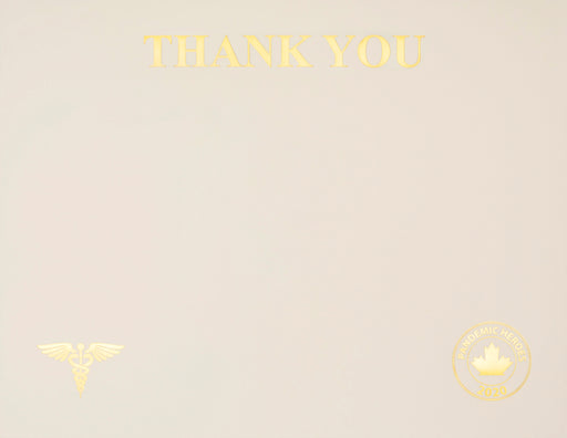 "St. James® Pandemic Heroes Collection - Premium Weight ""Thank You 2020"" Certificates, Gold Foil, Ivory, 65 lb, 8.5 x 11"", Pack of 25"