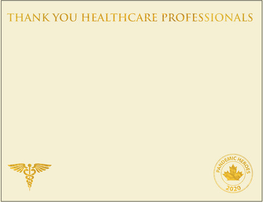 "St. James® Pandemic Heroes Collection - Premium Weight ""Healthcare Professionals 2020"" Certificates, Gold Foil, Ivory, 65 lb, 8.5 x 11"", Pack of 25"