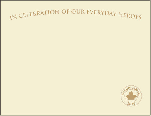 "St. James® Pandemic Heroes Collection - Premium Weight ""Everyday Heroes"" Certificates, Gold Foil, Ivory, 65 lb, 8.5 x 11"", Pack of 25"