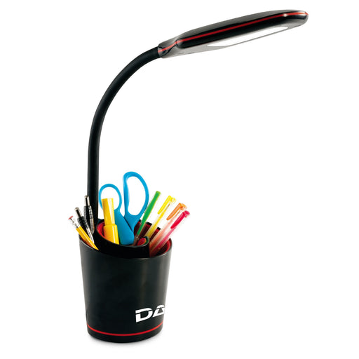 DAC® MP-329 LED Desk Lamp with Separable Swirl Organizer, Black