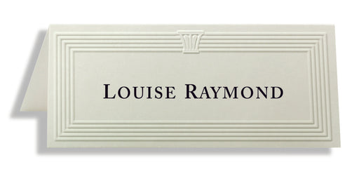 St. James® Overtures® Capital Embossed Place Cards, White, Pack of 60