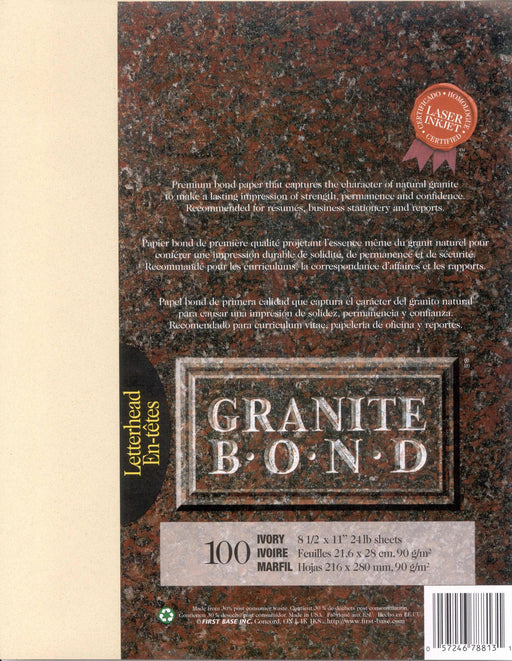 St. James® Granite Bond, Ivory, Pack of 100