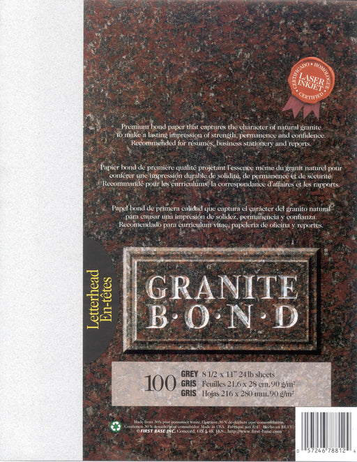 St. James® Granite Bond, Grey, Pack of 100