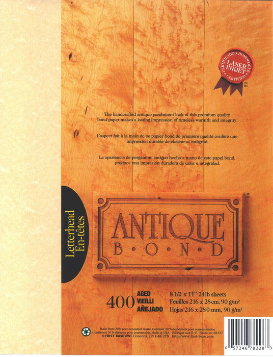 St. James® Antique Bond, Aged, Pack of 400