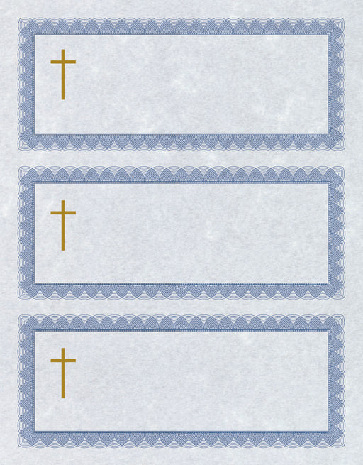 St.James® Universal tax receipts with Gold Foil Cross, Pack of 100
