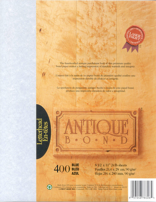St. James® Antique Bond, Blue, Pack of 400