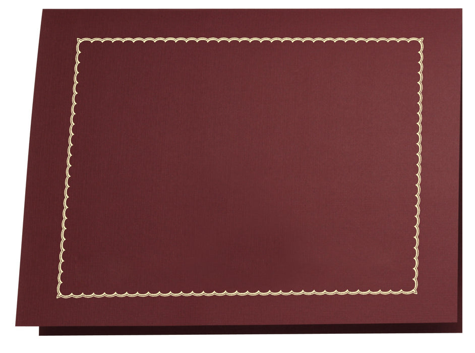St. James® Classic Linen Certificate Holders with Gold Foil, Burgundy, Pack of 5