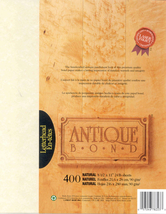 St. James® Antique Bond, Natural, Pack of 400